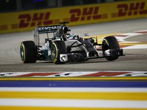 F1 GP de Singapur ganan Hamilton y Mercedes
