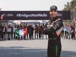 Construyamos puentes, no muros es el poderoso mensaje del Gran Premio de México 2017