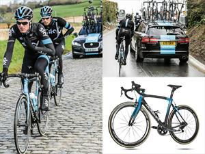 Jaguar y Pinarello modifican bicicleta del equipo SKY