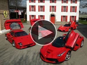 F40, F50, Enzo y LaFerrari en la pista de Fiorano