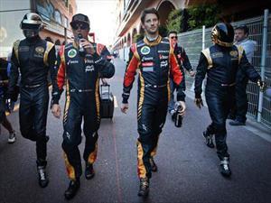 El equipo de F1 Lotus y Daft Punk en el GP de Mónaco