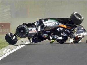 Video: Checo Peréz voltea su auto de F1