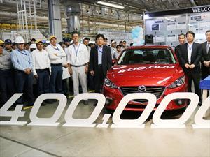 Mazda produce la unidad 400 mil en México