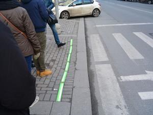 Buenos Aires también tendrá semáforos en el piso