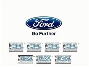 Ford es de las compañías Más Éticas del Mundo 2016 según el Instituto Ethisphere