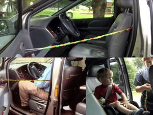 Práctico y casero sistema para que no te olvides a tus hijos en el auto