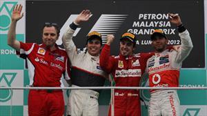 Checo Pérez logra su primer podium en la F1 en el GP de Malasia 2012