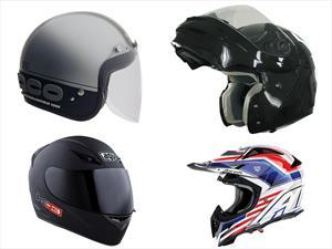 Conoce los cuatro tipos de casco para motociclistas