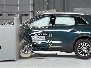 Lincoln MKX 2016 calificado como Top Safety Pick+ por el IIHS