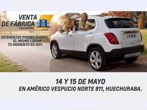 Chevrolet Chile: Gran Venta de fábrica sábado 14 y domingo 15 de mayo