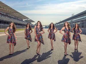 Pineda Covalin viste a las Grid Girls del Gran Premio de México 2015