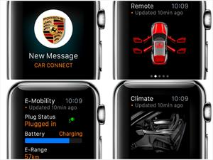 Autos de Porsche se podrán controlar con el Apple Watch