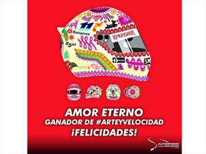 Este es el casco que usará Checo Pérez en el GP de México 2015
