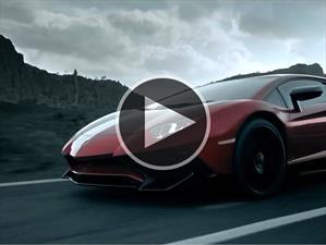Mirá al Lamborghini Aventador LP 750-4 SV en acción