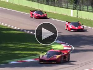 Video: así de increíble suenan cuatro Ferrari FXX K en Imola