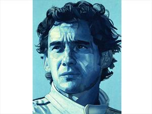 Hacen retrato de Ayrton Senna con vaqueros