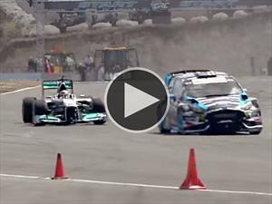 Video: Ken Block vs Lewis Hamilton, ¿Gymkhana o F1?