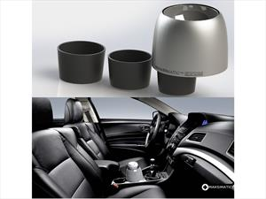 Un dispositivo que evita que se derramen las bebidas en el auto