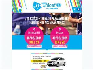Chevrolet participó en la carrera UNICEF por la Educación