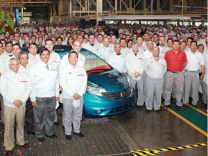 Nissan celebra la fabricación de la unidad cuatro millones en la planta de Aguascalientes, México