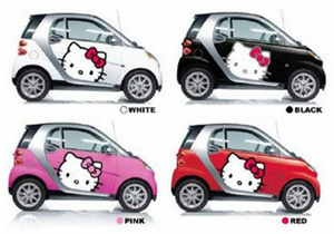 Smart ForTwo de Hello Kitty