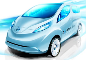 La primera imagen del Nissan NV200 eléctrico