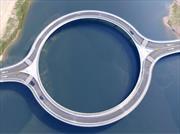 ¿Por qué es circular el puente de Laguna Garzón?