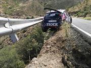 Chocan en el Campeonato Europeo de Rally