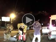 Video: Bob Esponja y compañía le dan golpiza a buscapleitos