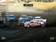 Kevin Eriksson se roba la final de Rally Cross con espectacular maniobra