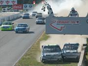 Carrera épica en NASCAR Truck Series, polémica y pelea incluidos
