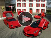 F40, F50, Enzo y LaFerrari juntos en la pista de Fiorano
