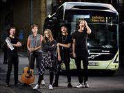 Graban sesión musical en un autobús eléctrico