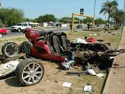 Koenigsegg CCX se impacta en México
