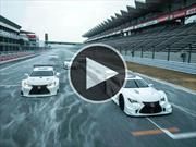 5 Lexus bailando en el Fuji Speedway