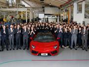 Lamborghini Aventador alcanza las 5,000 unidades producidas
