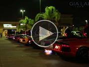 Así truenan 11 Lamborghini Aventador juntos