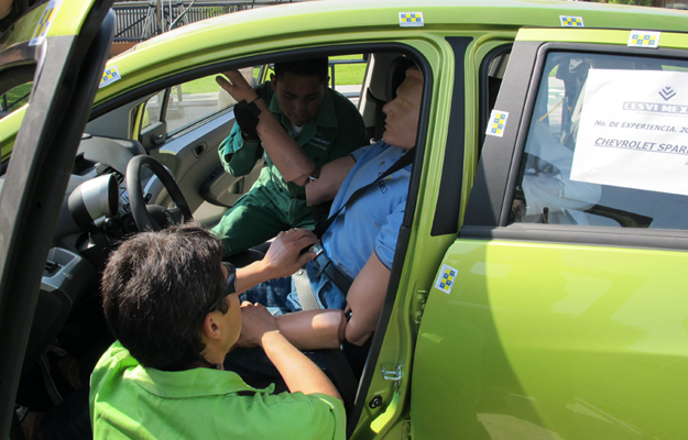 Cesvi México realiza prueba de choque con el Chevrolet Spark 2011