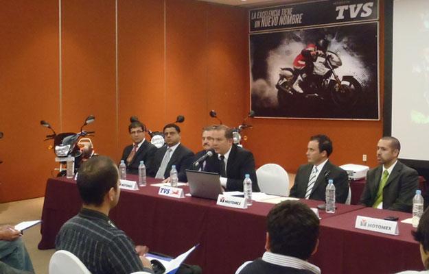 Motocicletas TVS llegan a México