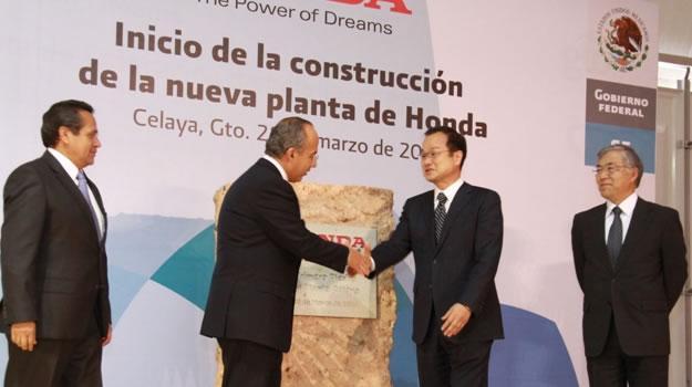 Honda da inicio a la construcción de su planta en Celaya