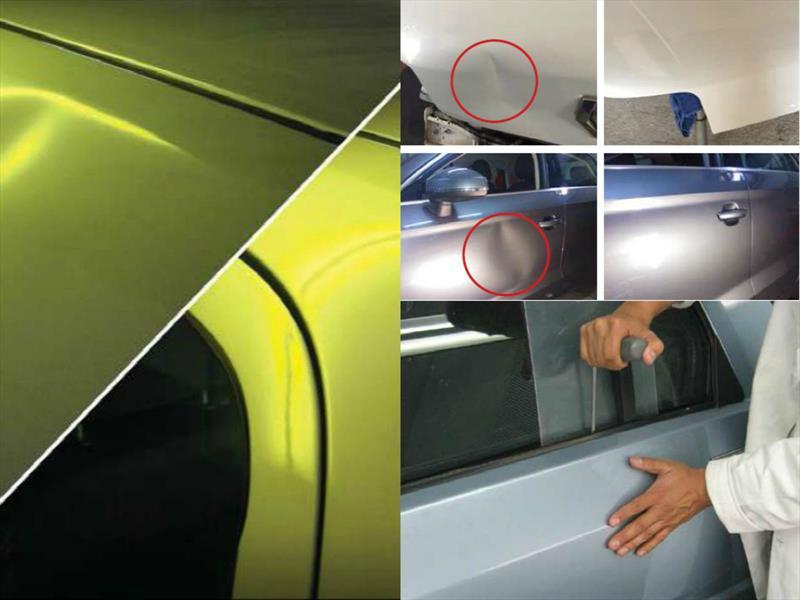 ¿Cómo se repara un auto sin repintar?