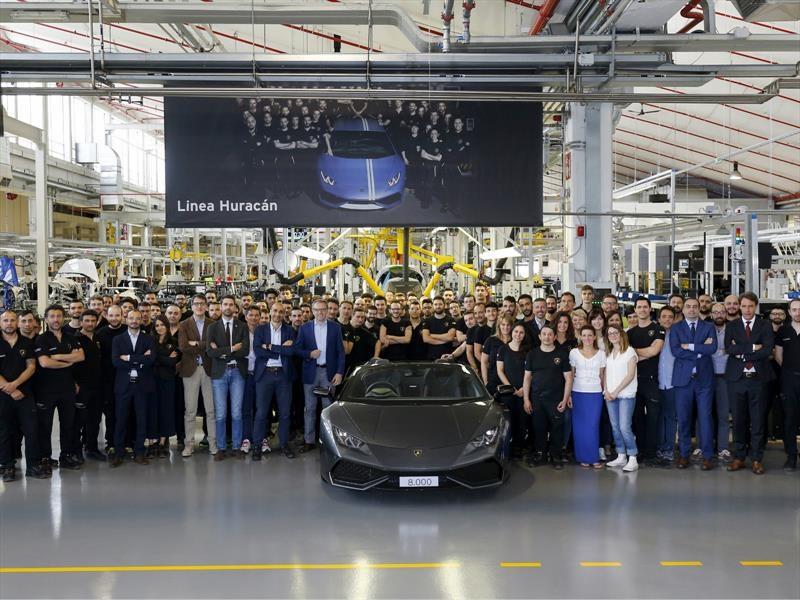 Lamborghini Huracán alcanza las 8,000 unidades producidas