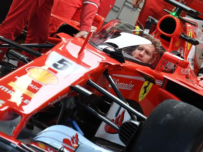 F1 2017: The Shield salió a pista, pero a Vettel no le gustó