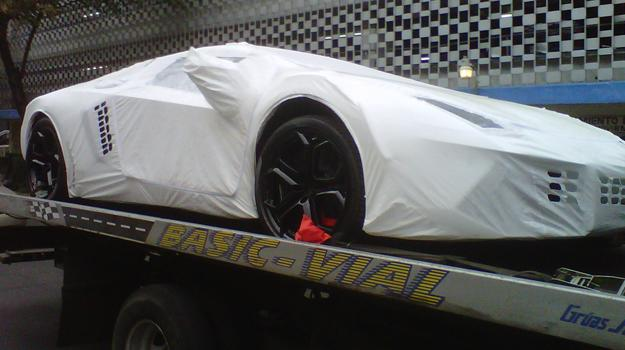 El primer Lamborghini Aventador visto en México