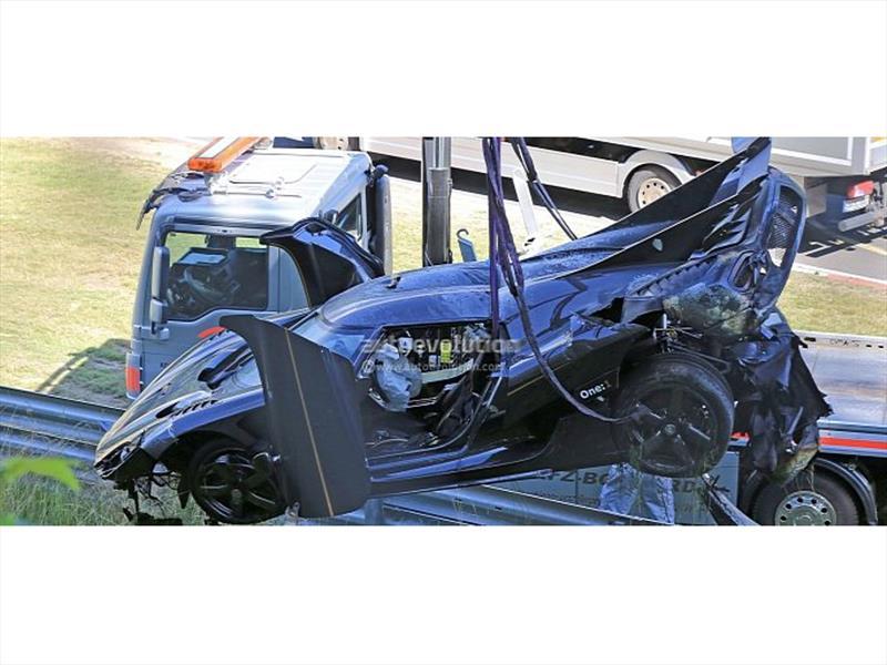 Koenigsegg One:1 destrozado en Nürburgring