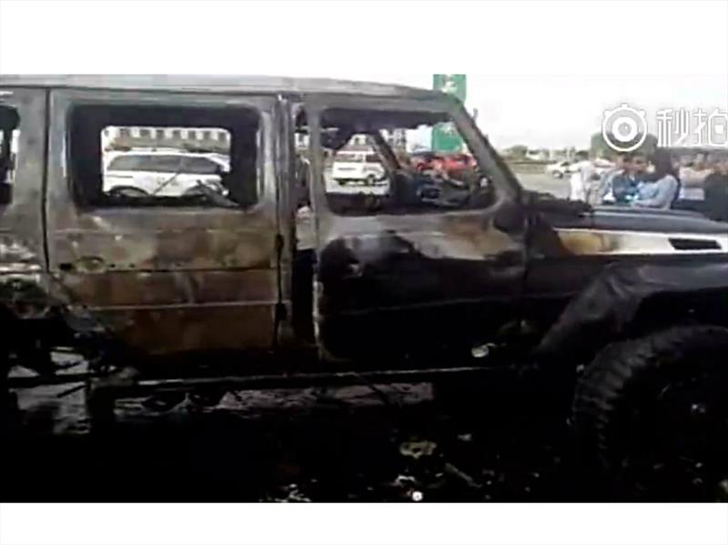 Mercedes benz g 63 amg 6x6 por mansory incendiado en china for Mercedes benz 6x6 precio