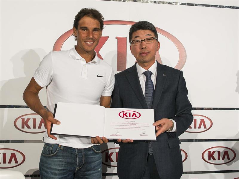 Kia Motors extendió su vínculo con Rafa Nadal hasta 2020