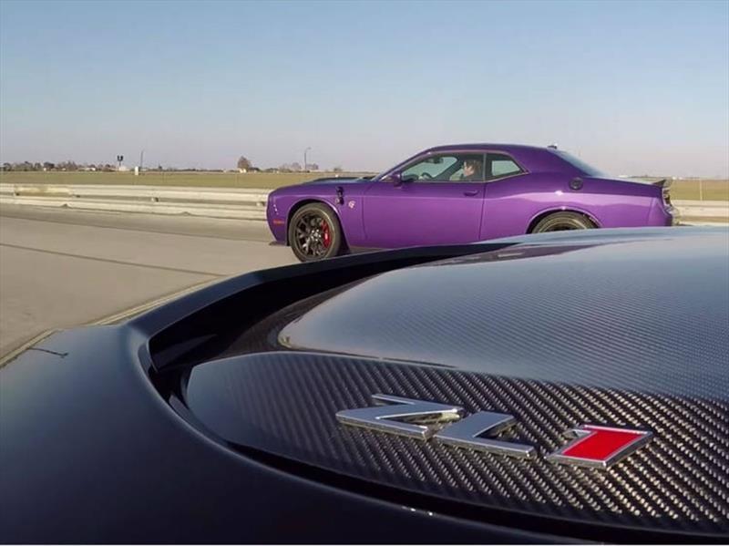 Challenger SRT Hellcat Vs Camaro ZL1, duelo de Titanes