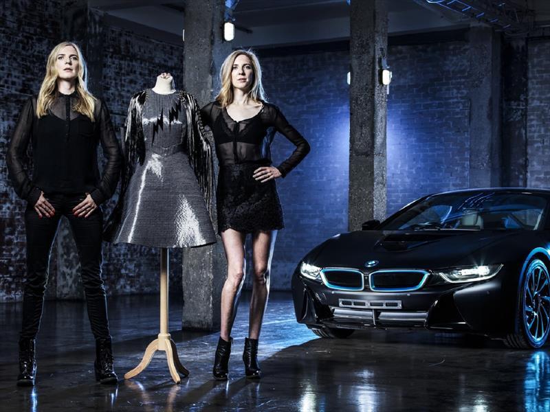 Carbon Dress, el vestido inspirado en la fibra de carbono del BMW i8
