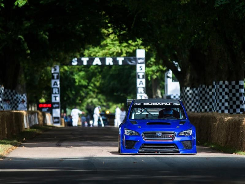 Mark Higgins trata de quedarse el Record del Festival de Goodwood en un Subaru WRX STi